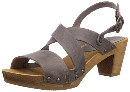 Sanita Olympia Square Flex Sandal - sandalias abiertas de cuero mujer gris - Grau (grey / 20)