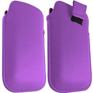 ONX3 LG P970 cuero púrpura tirón Tab Case bolsa protectora