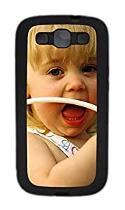 Samsung Galaxy S3 I9300 Cases & Covers - Simple Cute Girl TPU Custom Soft Case Cover Protector for Samsung Galaxy S3 I9300 - Black