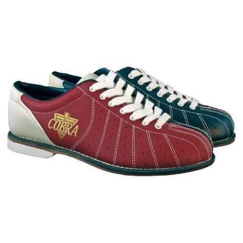 Bowlerstore Damen TCR 1L Cobra Vermietung Bowling Schuhe - Schnürsenkel Rot  blau