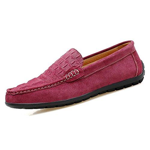 de Zapatos de Hombre Casuales de de Conducción de Zapatos Zapatos Trabajo Vestir Red Cuero Zapatos Zapatos 5rXfwxdqf