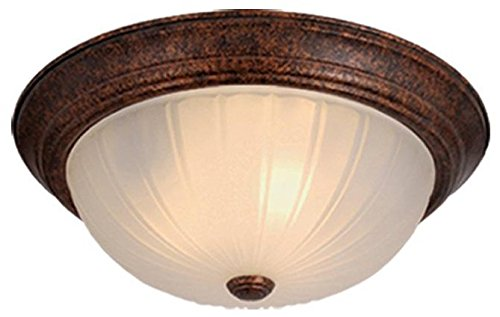 Vaxcel CC1753WP Flush Mount with Frosted Melon Glass, 13