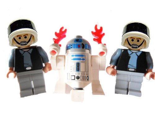 Lego R2-D2 and Two Rebel Trooper Minifigures (Death Star Ii Lego)