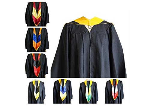 Yellow Gold Master - GRADWYSE Science Master Hood M.S. Graduation Master Degree Hood, Various College Colors Available Golden Yellow (Gold/Black)