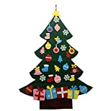 bangcool Christmas Tree Toy, Kids Toy DIY Felt Christmas Tree Wall Decor with Hanging Rope