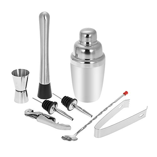 Anself 8pcs 350ml Stainless Steel Cocktail Shaker Mixer K...