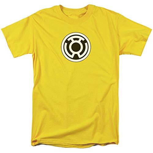 (Green Lantern Sinestro Corps Logo T Shirt & Exclusive Stickers (Large))
