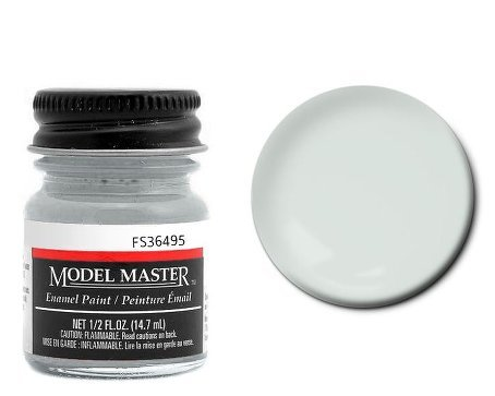 Testor Corp. Light Gray Enamel Paint .5 oz bottle FS36495 ()