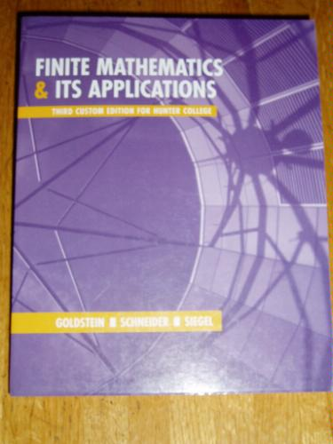 Read Online Finite Mathematics & Its Applications (Hunter College Edition) pdf
