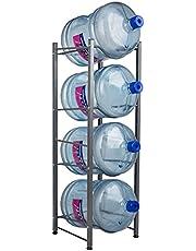 Mind Reader 4 Tier Stainless Steel Heavy Duty Water Cooler Jug Rack, Silver