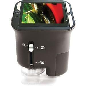 Vistaquest - Cámara En Cuerpo de Microscopio Digital Portátil - Color : Negro