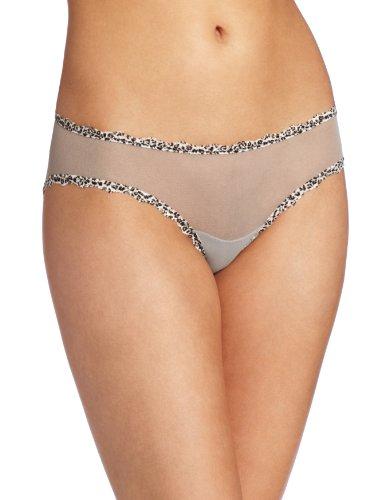 Cosabella Leopard - Cosabella Women's Celine LR Hotpant Panty, Dove Gray/Leopard, Large