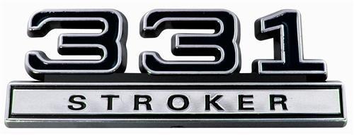 - 331 Stroker Engine Emblem in Black & Chrome Trim - 4.0