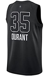 NIKE Mens Jordan Brand Kevin Durant Golden State Warriors Black Swingman 2018 All-Star Game