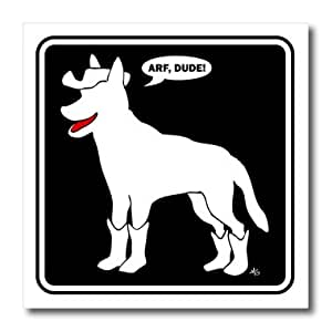 ht_13156_1 Mark Grace SCREAMNJIMMY Guard Dog - BEWARE OF DOG DUDE black sign 2 - Iron on Heat Transfers - 8x8 Iron on Heat Transfer for White Material