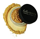 bella Bella Terra Mineral Powder Foundation | Long-Lasting All-Day Wear | Buildable Sheer to Full Coverage – Matte | Sensitive Skin Approved | Natural SPF 15 (Nutmeg) 9 grams