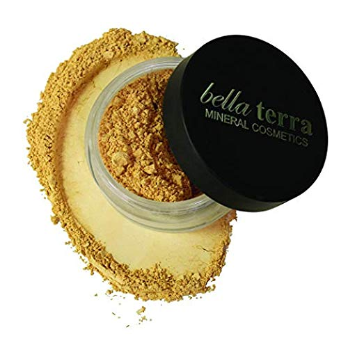 Bella Terra Mineral Powder Foundation | Long-Lasting All-Day Wear | Buildable Sheer to Full Coverage - Matte | Sensitive Skin Approved | Natural SPF 15 (Nutmeg) 9 grams