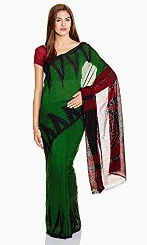 Green Color Odisha Handloom Saree