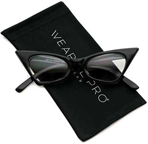 WearMe Pro - Super Retro High Pointed Cat Eye Clear Lens - Glasses Prescription Cats Eye
