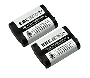 Amazon Com Ebl Pack Of 2 Cordless Phone Battery For