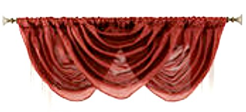 Domestcations Forest Waterfall Sheer Valance One 65x36 (Elegance Swag)