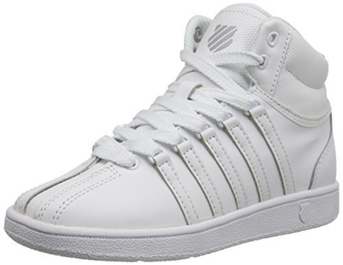 K-Swiss Classic VN Mid Sneaker (Little Kid/Big Kid), White/White, 4.5 M US Big Kid K-swiss Accessories