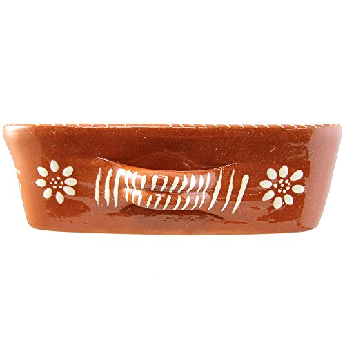 Vintage Portuguese Traditional Clay Terracotta Pottery Roasting Tray Made In Portugal (N.2 13 5/8 x 9 3/4 x 3 1/8'' Inches) by Ceramica Edgar Pinto (Image #2)'