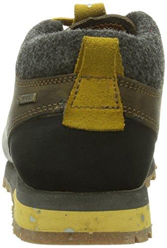 AKU BELLAMONT GTX - Zapatillas De Deporte Para Exterior de piel unisex marrón - Braun (305 DK.BROWN/YELLOW)