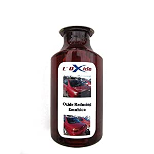 Oxide Reducing Emulsion to Restore Faded, Oxidized or Sun Damaged Car Paint, Peeling Clear Coat and Dull Headlights in a Simple DIY Operation. Easier to apply than wax, needs no polishing