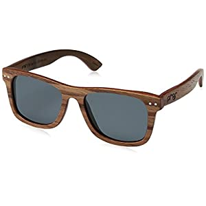 Proof Eyewear Unisex Ontario Pear Skate Wood Sunglasses Handcrafted Water Resistant,  Pear,  52 mm