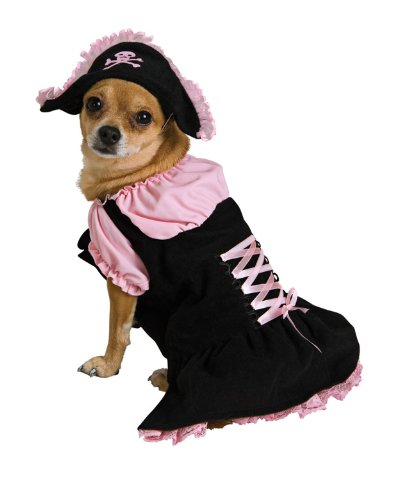 Dog Pirate Treasure Chest Costume (Rubie's Pink Pirate Pet Costume, Small)