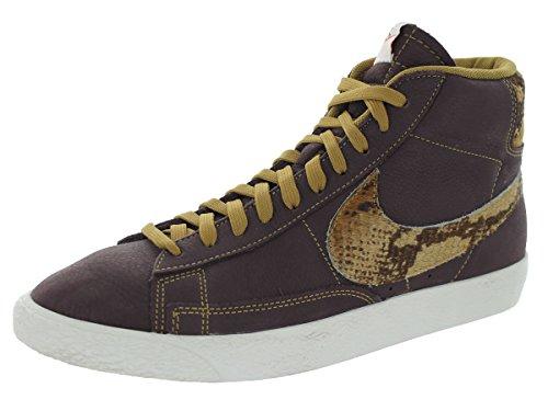 Nike Blazer Mid Prm Vntg Qs Safari Pakke Menns Basketball Sko Mahogni / Seil // Gylden Brunfarge