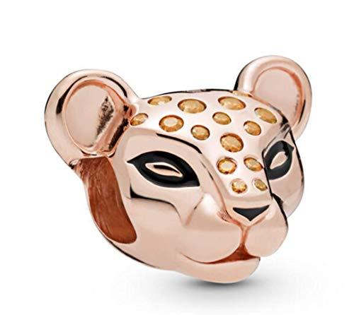 DH Love Sparking Lion Charms Bead Fit Pandora Charm Bracelets