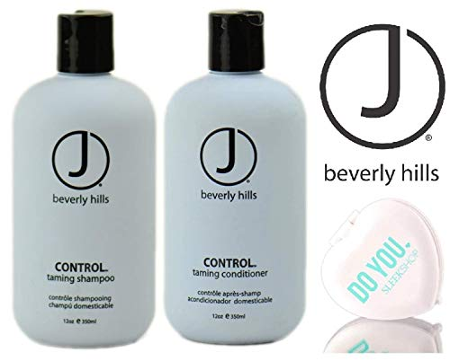 J Beverly Hills CONTROL Taming SHAMPOO & CONDITIONER Duo Set (with Sleek Compact Mirror) (12 oz / 350 ml DUO KIT) Beverly Hills Control Shampoo