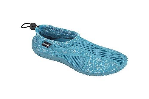 Fashy Aquaschuhe Damen Badeschuhe Blau oder Blau Neoprenschuhe Schwarz rr7xq6wBg