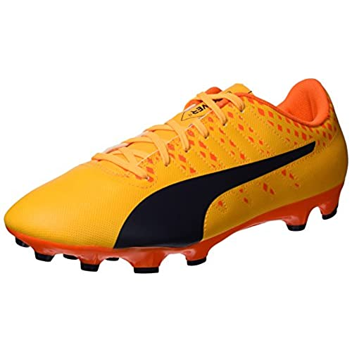Puma Evopower Vigor 4 FG Jr, Botas de Fútbol Infantil, Naranja (Ultra Yellow-Peacoat-Orange Clown Fish 03), 38 EU