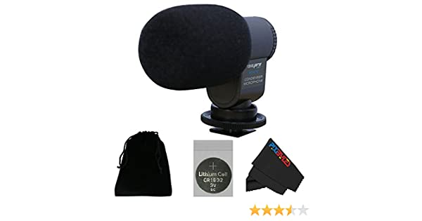 I3ePro BP-CMIC1 X-Series Mini Shotgun Condenser Microphone for Sony NEX-7 Mirrorless Digital Camera Grey