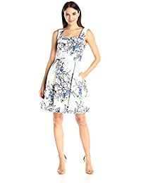 Women's Fit and Flare Pleated Dress