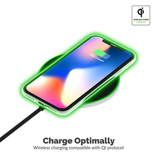 Sabrent 10W qi Wireless Fast Charger Charging Pad, Universally Compatible with All qi Enabled Phones [AC Adapter Not Included] Black (WL-QIFC)
