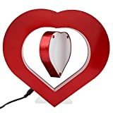 Zerodis Magnetic Levitation Photo Frame DIY Anti-Gravity Suspending LED Red Heart Shaped Photo Picture Frame Novelty Gift Home Decoration Pictures Frames(US)