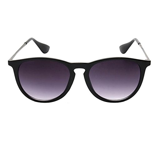Afco Vintage Women's Men's Retro Unisex Metal Frame Round Sunglasses Kpop Star Glasses - - Sunglasses Kpop