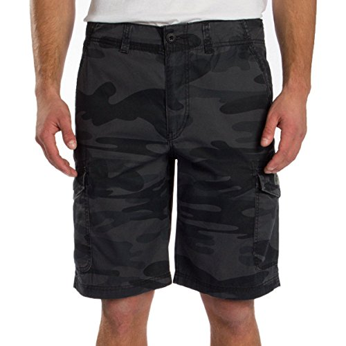 UNIONBAY Men's Medford Lightweight Cotton Cargo Short (40, Black -