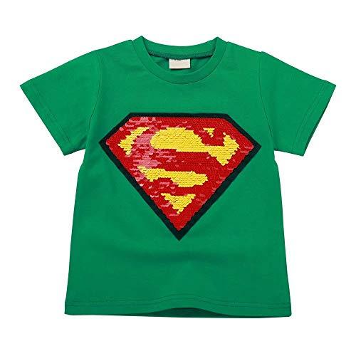 Tsyllyp Boy Children Superman Magic Sequin Shirts Marvel Fashion -