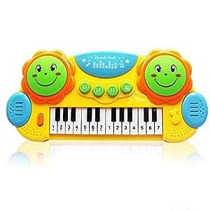 Piano de juguete Teclado de 14 teclas Simulación Piano Juguetes musicales para niños Juegos infantiles de