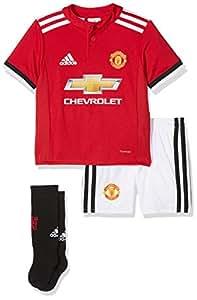 adidas MUFC H Mini Conjunto Equipación-Línea Manchester United FC, niños, Rojo (rojrea/Blanco/Negro), 98