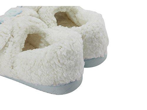 Miyang Winter Womens Sheep Caldo Peluche Suola Morbida Verde Coperta