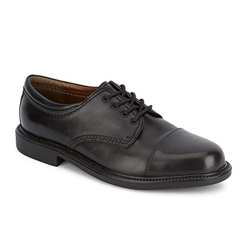 Dockers Men's Gordon Leather Oxford Dress Shoe,Black,9.5 W US (Mens Dress Shoes Leather Or Rubber Sole)