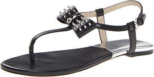 (Michael by Michael Kors Black Devin Thong Sandal in Black (Size 7.5 M))