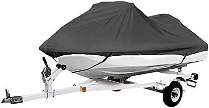 Jet Ski gris  Fundas Yamaha Se ajusta a 2-3 asientos o a moto acu/ática de 345 cm-368 cm de longitud Fundas Sea Doo Kawasaki La funda para embarcaciones personales transportables Polaris PWC