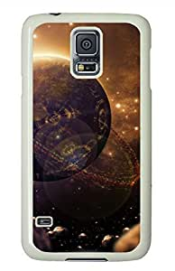 Sci Fi Planet White Hard Case Cover Skin For Samsung Galaxy S5 I9600